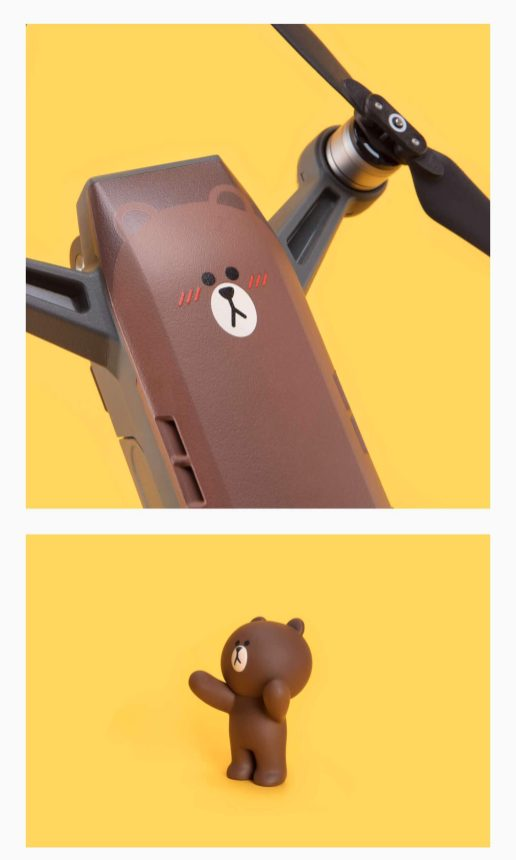 DJI Spark - DJI has teamed up with Line Friends to create brown Spark mini-drone0002