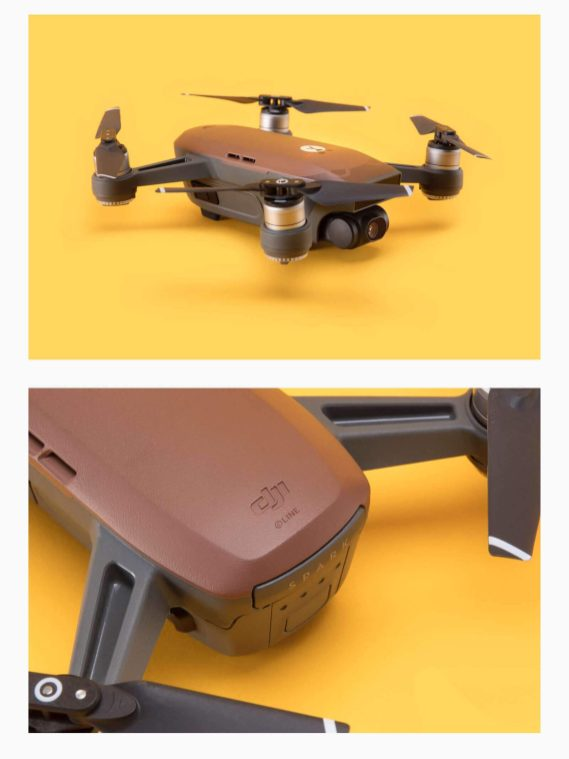 DJI Spark - DJI has teamed up with Line Friends to create brown Spark mini-drone0003