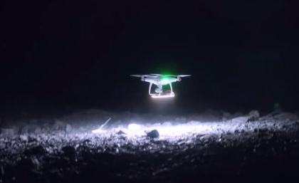 Photographer Reuben Wu uses a drone with Lume Cubes to light up glaciers in Pastoruri, South America of which he then takes photos. 3