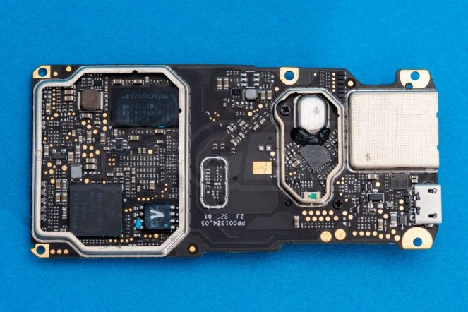 DJI-Mavic-Mini-drone-teardown-guide-repair-mainboard-underside-heatspreaders-removed-chips-processors-cleared-1200x801