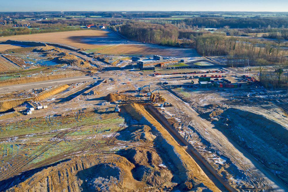 Byggeplads Nyt OUH set fra drone