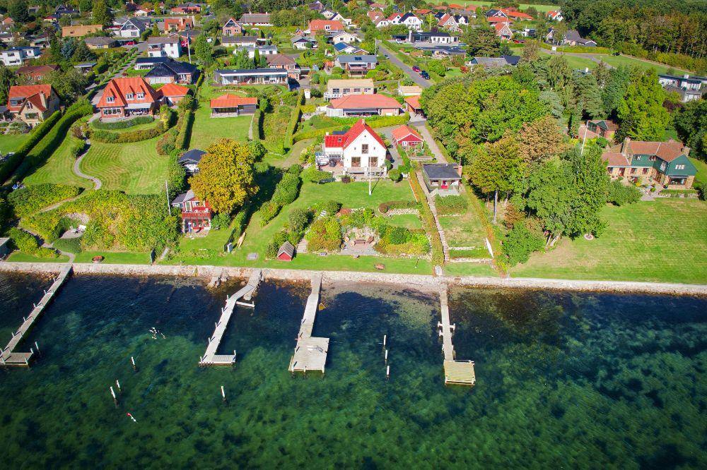 Luft foto Svendborg sund