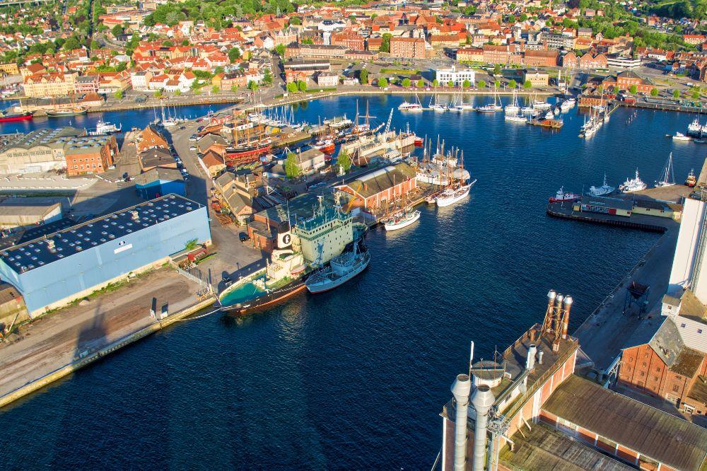 Svendborg haven en sommer morgen