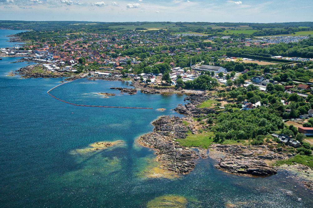 Dronefoto fra Folkemøde på bornholm