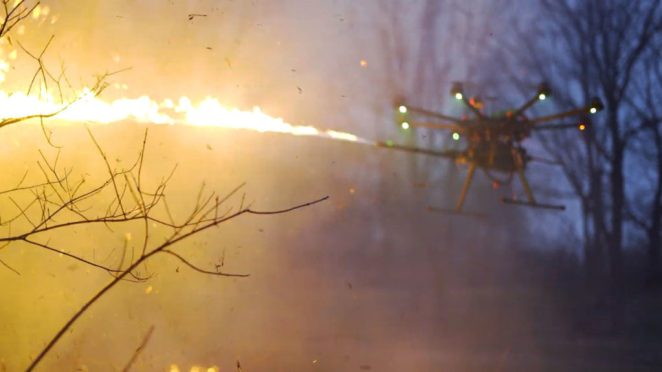 Throwflame's drone flamethrower.