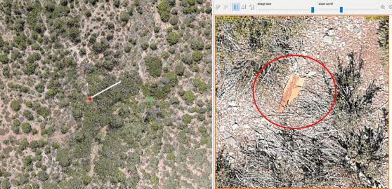 crash site investigation with drones