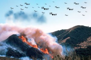 drone swarms for firefighting