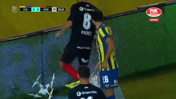 Drone enters fray in Argentinian soccer rivalry