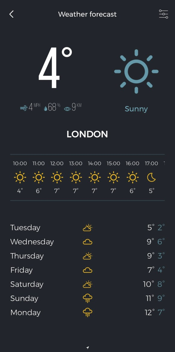Polarpro app weather image from drone photography bible article 'how to us the polarpro app properly'.