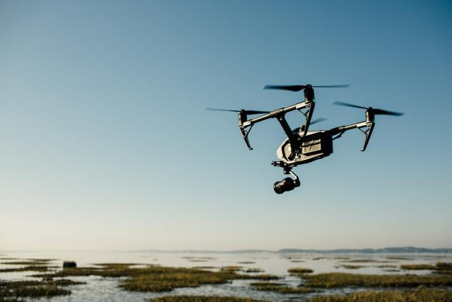 image of a  drone flying from drone photography bible article What Is Photogrammetry &  How Can Drones Be Used?