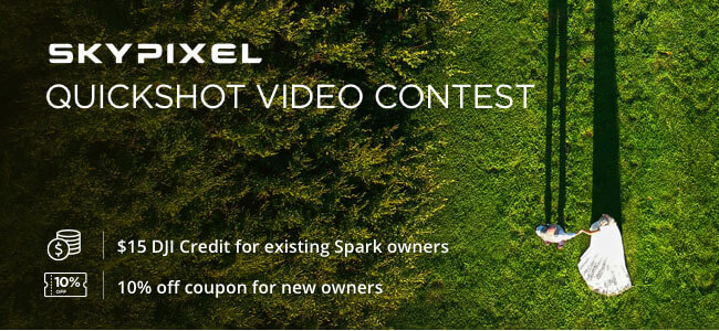DEALS: 10% OFF Spark, $15 DJI Credit For Existing Spark Owners + MORE !