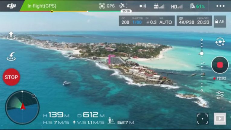 foldable selfie drone app control