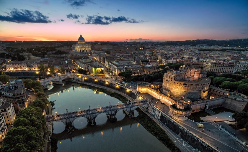 Rome HDR photography with a drone