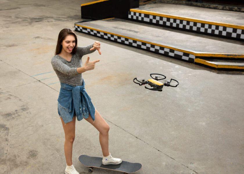 dji spark drone gesture control