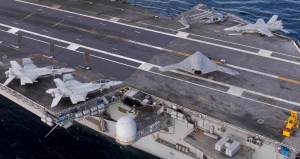 New US X-47B drone undergoing tests aboard Aircraft carrier