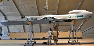 reaper being assembled at Kandahar (ops update 26 dec 2010)