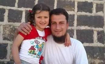 Five year old Daniya Ali Al Haj Qaddour and her father, alleged militant Ali Saeed Al Haj Qaddour, both killed in a US air strike at Harem, November 5th 2014 (via SNHR)