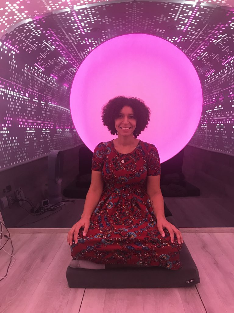 Inside Be Time Studio (Pink Lights)