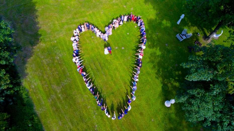 Wesele z drona Tarnowo serce