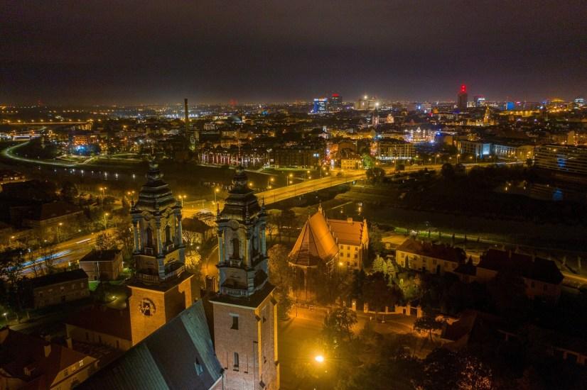 Katedra na Ostrowie Tumskim nocą