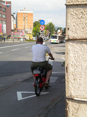 Percepcija kolesarja ali motorista