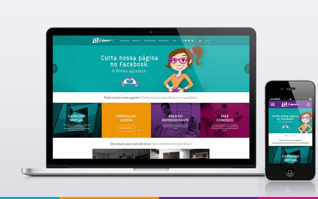 Linea Brasil – Site para indústria de móveis