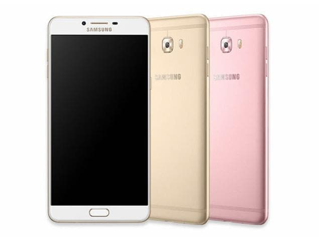 Samsung Galaxy C9 Pro in 3 misc like Gold, Pink Gold, Black.