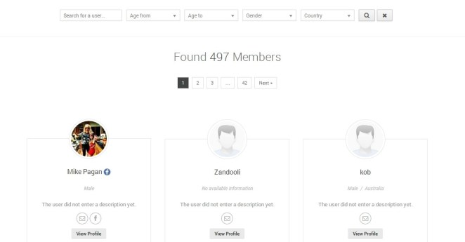 UserPro - User Profiles with Social Login membed directory