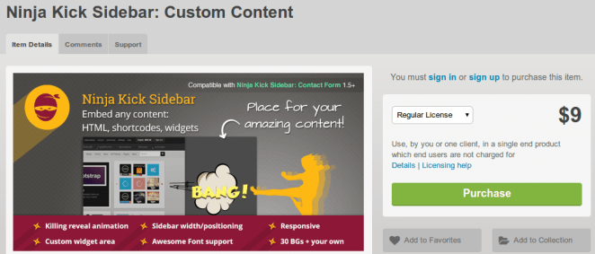 codecanyon plugin Ninja Kick