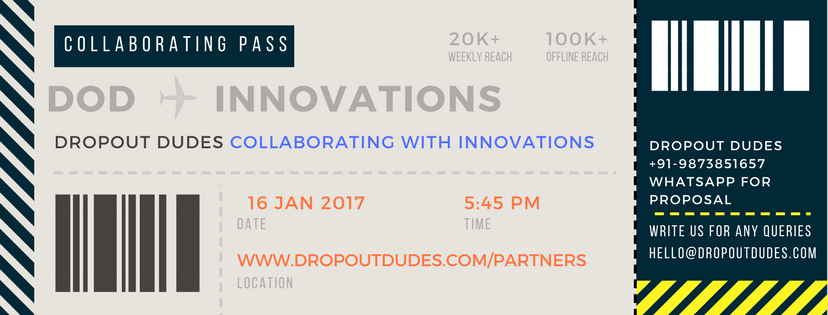 Collaborating with Innovations - Dropout Dudes Partners