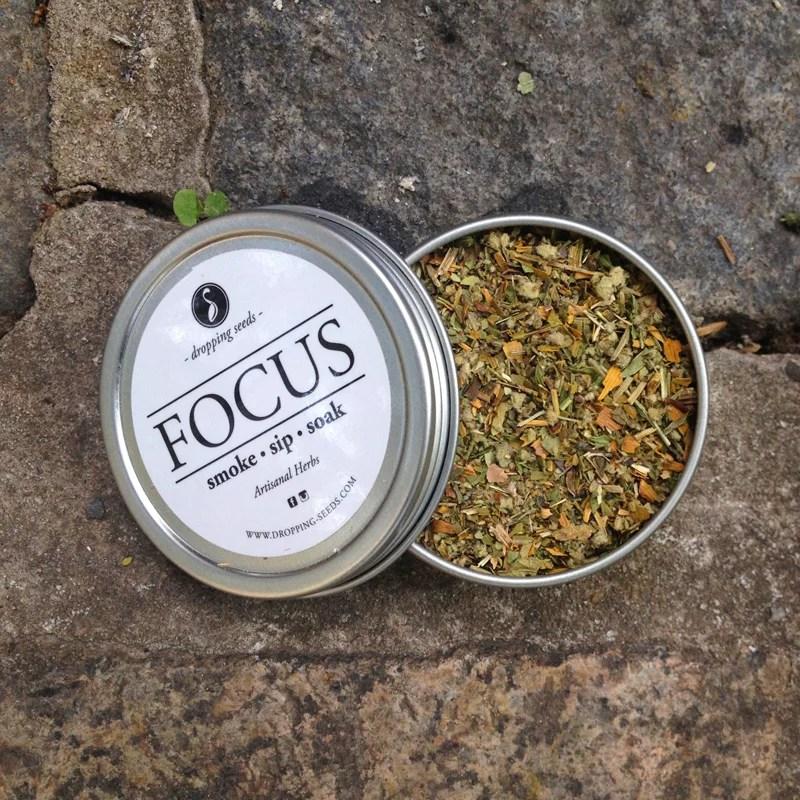 herbal tea smoke focus