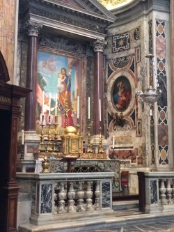 Side altar of St Joseph