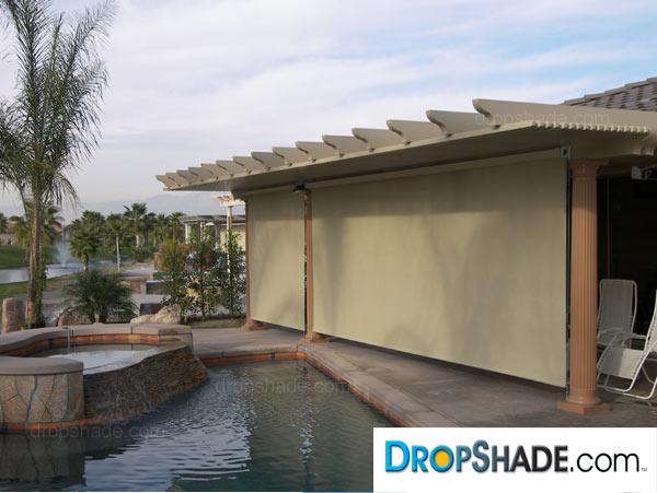 patio drop shades exterior motorized