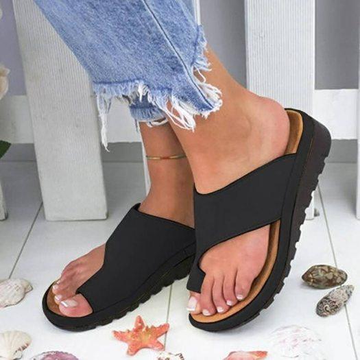 Women's Bunion Correcting Leather Sandals