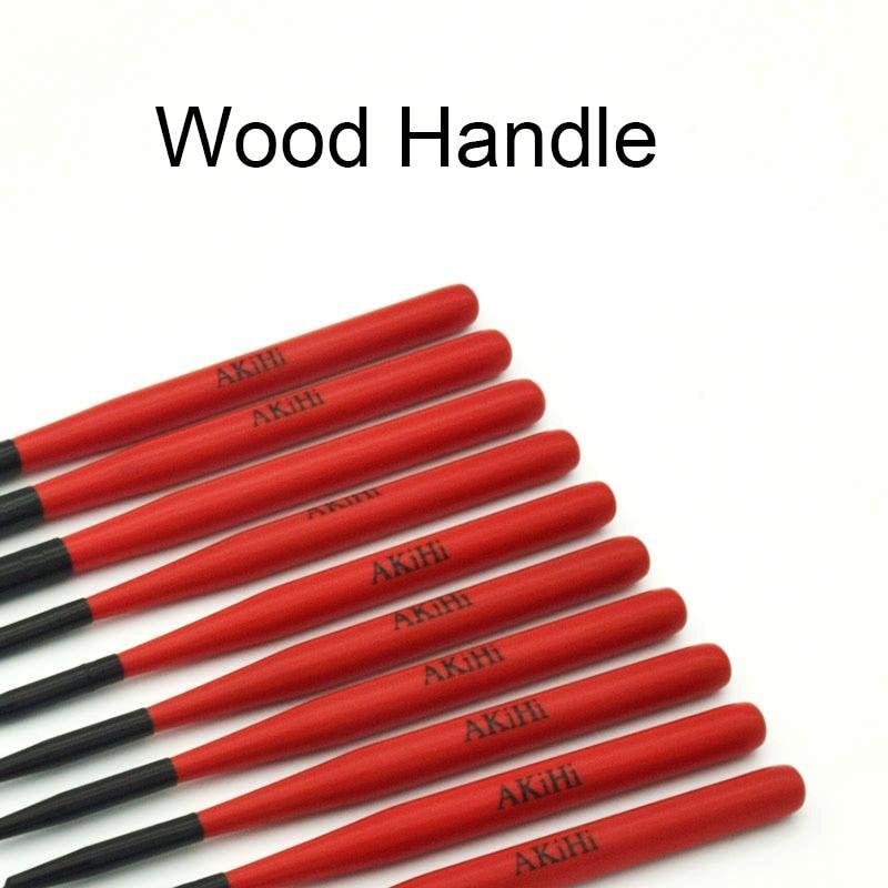 Red Design Nail Art Brush with Metal Cap