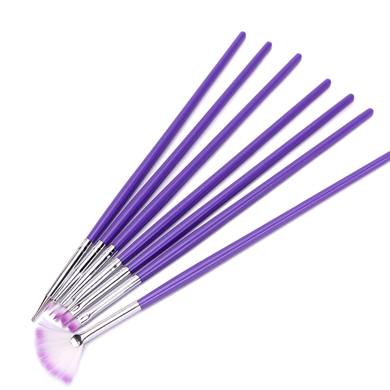 Purple Nail Brushes for Painting