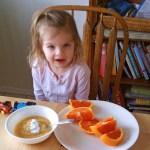 Mini Food Blogger in Training