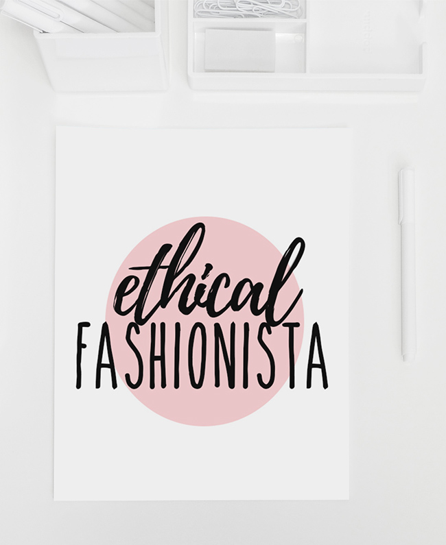 Free Printable: Ethical Fashionista Poster