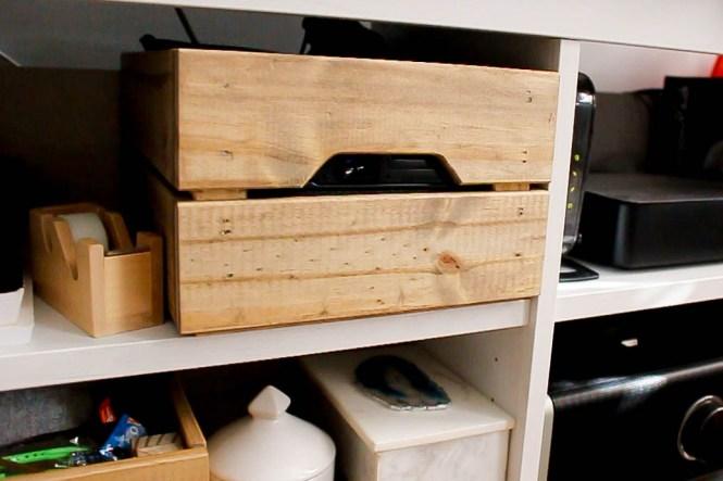 diy ikea rustic wooden crate. Black Bedroom Furniture Sets. Home Design Ideas