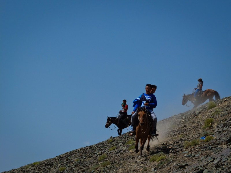 Mongol children are born to ride