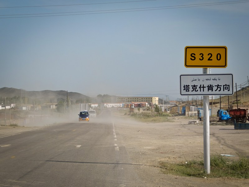 back to emptiness at Gobi desert in China...
