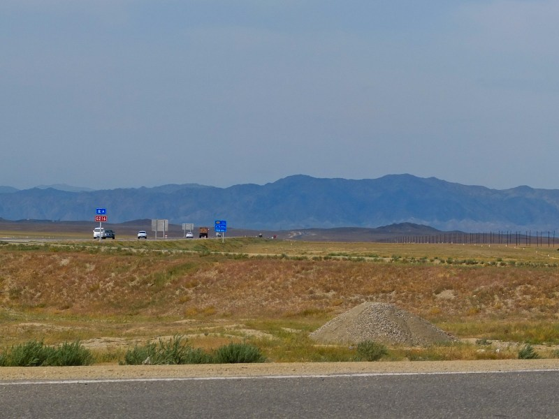 The landscape of northern Xinjiang's streches of Gobi Desert. Be careful of the temperatures!