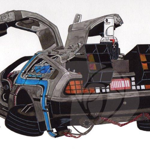 DeLorean Time Machine by Danielle Rose