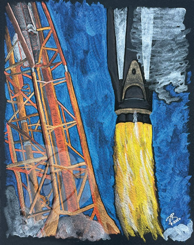 SpaceX Falcon 9 Launch by Danielle Rose