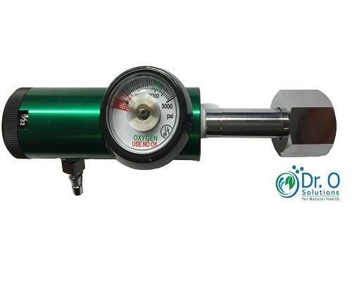 Mini Oxygen Regulator 0 - 132 to 4 Lpm Low Flow CGA 540 for ozone generator