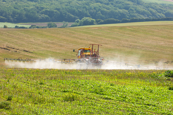 Photo credit: Tractor spraying fertilizer, iStock 98732175