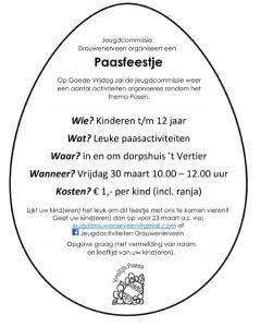 Kinderpaasfeestje in Drouwenerveen @ Dorpshuis Het Vertier | Drouwenerveen | Drenthe | Nederland