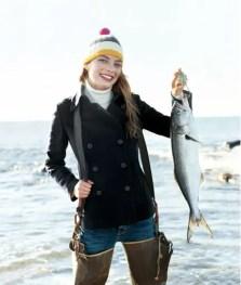 Fashion fishing girl