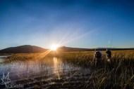 Go fishing sunset image