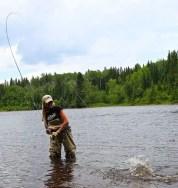 Rebekka Redd Salmon Fishing